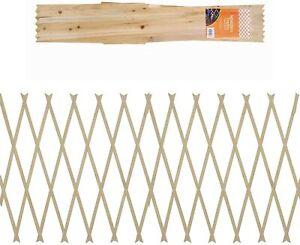 NATURAL Expanding 5ft x 2ft Wooden Trellis Garden Scissor Plant Fence Panel