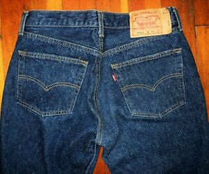 Vtg LEVIS 501xx BLUE JEANS BUTTON FLY Made in USA 34x30 Actual 33x28 - 501-XXXX
