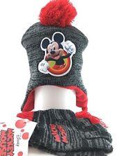 Disney Big Boys' Mickey Mouse Beanie/ Glove Set