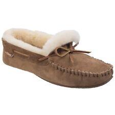Cotswold hombre Chastleton mocasines pantuflas zapatillas calzado de casa casual Castaña 43