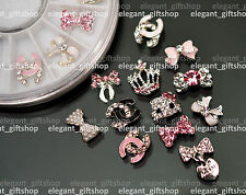 3D Nail Art Tips Decoration Glitter Rhinestone Alloy Jewelry + Wheel #EJW_04