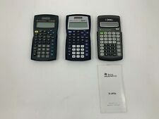 Lot 3- Texas Instruments Ti-30Xa Battery + Ti-30Xiis Solar Scientific Calculator