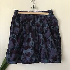 Marc By Marc Jacobs Women's Purple Abstract Print Skirt Career Size 8 M/L