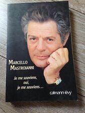 marcello mastroianni je me souviens, oui, je me souviens... calmann-levy 226 p