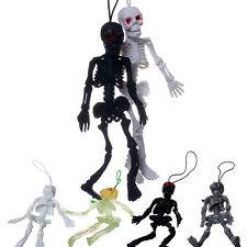 1xLuminous Noctilucent Skull Skeleton Soft model Decor Fun Toy Character Pendant