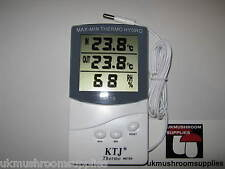 Digital LCD Thermometer Temperature Humidity Meter Gauge Hygrometer - Mushroom