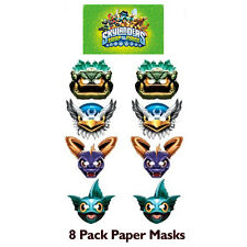 Skylanders Birthday Party Paper Masks (8 count) Favours Supplies Decorations