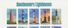 USA ABART 2003 Southeastern Lighthouses U/M MS w LOWER VALUE in 2nd stamp, R!