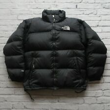 Vintage North Face 700 Down Nuptse Puffer Jacket Size XL Black Puffy 90s