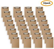 Mini Clipboard 6 X 9 Inches Small Hardboard Clipboard Pack Of 32