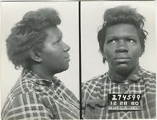 Photo Bertillon identification Policière Police Mug Shot Usa Philadelphia 1960