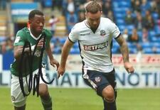BOLTON: ADAM ARMSTRONG SIGNED 6x4 ACTION PHOTO+COA