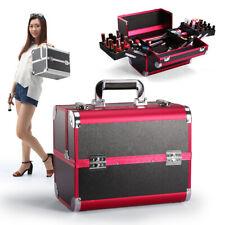 Professional Makeup Train Case Brushes Jewelry Cosmetic Organizer Storage Box