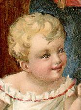 1887 BORDEN CONDENSED MILK TRADE CARD, CAT LICKS SPOON + BABY &  LG CAN   TC3110