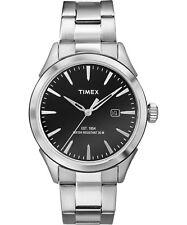 Orologio Timex TW2P77300 in acciaio moda uomo fondo nero classic