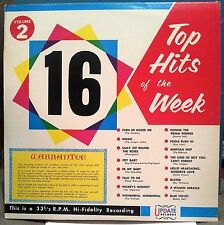 16 TOP HITS OF THE WEEK Vol.2 - UNUSUAL CONCEPT HIT COVERS 60's LP VERY COOL!