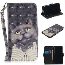 Cat Leather Wallet Flip Stand Strap Case Cover For SONY Xperia NOKIA Cellphone