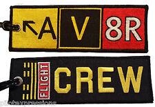 Aviation Gifts for Pilots! Embroidered AV8R Taxiway Sign Flight Crew Luggage Tag