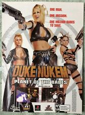 Duke Nukem Poster Ad Print Playstation 1 Planet of the Babes Retro