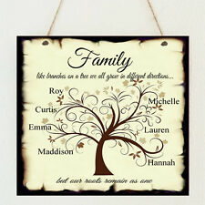 Personalised Family Tree Children Love Plaque Shabby Present Mother's Day Gift