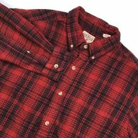 RED HEAD MENS LONG SLEEVE PLAID FLANNEL HEAVY COTTON BUTTON DOWN SHIRT SIZE XL