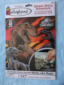 Colorforms Jurassic World Sticker Story Adventure - OVER 40 Colorforms! - NEW!!
