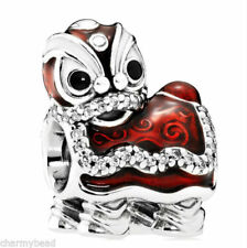 Pandora Chinese Lion Dance Silver Charm #792043CZ New Year Celebration