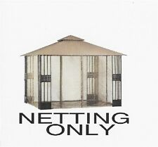 Polyester Mosquito Net for a 10'x10' Gazebo Cream Black Netting ONLY