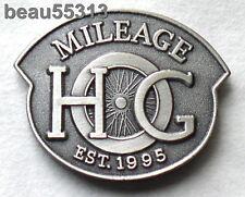 HARLEY DAVIDSON OWNERS GROUP HOG H.O.G.1995 MILEAGE MILES VEST HAT JACKET PIN