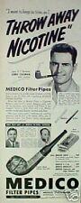 1951 Jerry Coleman New York Yankees Baseball Medico Pipes ODDBALL SPORTS Art Ad