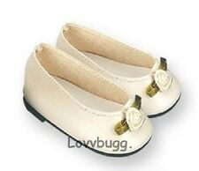 Ivory Colonial for 18 inch Doll Shoes American Girl   Lovvbugg Widest US Variety