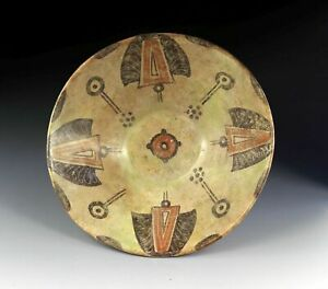 *SC*A LARGER DECORATED ISLAMIC, POTTERY BOWL, KASHAN, 11th.-12th cent!!