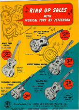1959 ADVERT Jefferson Toy Play Lone Ranger Guitar Wyatt Earp Banjo Uke Ukulele
