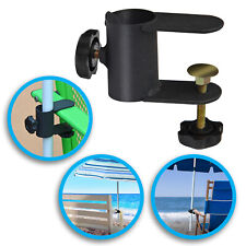 "Metal Clamp Holder Clip Beach Fishing Umbrella Mount Chair Steel Clamp pole 1.1"""