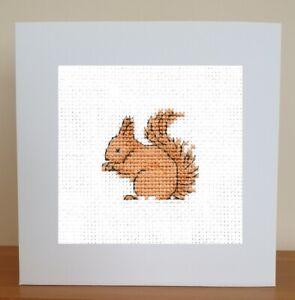 Cross Stitch Card Kit - Squirrel