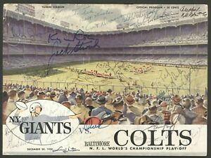 1958 Baltimore Colts & Giants Team Signed Program Greatest Game Ever Played JSA