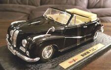 Maisto 1955 BMW 502 Convertible 1:18 Black Diecast Car #31817