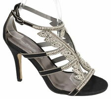 Stiletto Party Strappy, Ankle Straps Textile Heels for Women