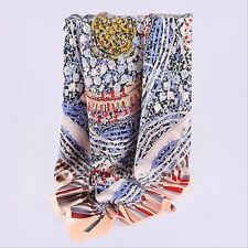 100% silk scarf super large heavy weight square silk scarf 110cm*110cm