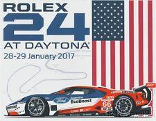 2017 Ganassi Racing Ford GT GTLM Rolex 24 IMSA WTSC postcard
