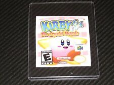 Kirby 64 The Crystal Shards N64 Cartridge Replacement Game Label Sticker Precut