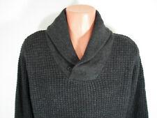 Mens D-Lux Sweater Shawl Collar Medium Wool Blend Jordan Craig Sharp Charcoal