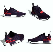 Adidas NMD R1 Boost Legend Purple / Shock Red Mens Size 10.5 US NIB BD7752