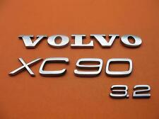 03-14 VOLVO XC90 3.2 REAR GATE LID CHROME EMBLEM LOGO BADGE SIGN SYMBOL OEM SET
