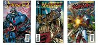 3 JUSTICE LEAGUE #23 3D Covers DARKSEID SECRET SOCIETY DEADSHOT NM/M! DC New 52!