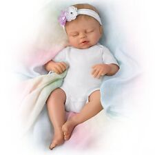 Ashton Drake Swaddled So Sweetly Lifelike Baby Girl Doll by Violet Parker