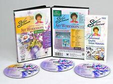 SUSAN SCHEEWE, 3 DVD Set TEACHES-13 gorgeous PAINTINGS, FLORAL & LANDSCAPE, #11B