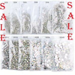 1440pcs Crystal Nail Art Rhinestones FlatBack Glitter Diamond 3D Tips Decoration