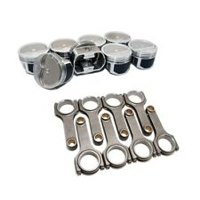 Wiseco PTS533A3 Pro Tru Pistons SBC 383 Rev. Dome .30 Over W/ Scat H-Beam Rods