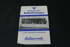 Age Print Sachswerk Board Switch Gear Advertising Vintage Collector